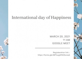 Celebration of International Day of Happiness