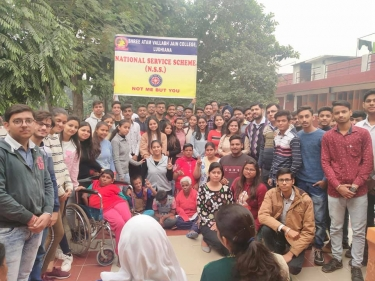Students interacted with specially challenged people