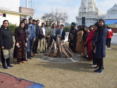 Lohri celebrated in the campus with full zeal and enthusiasm !