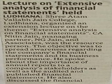 lecture on Extensive Analysis of Financial Statements