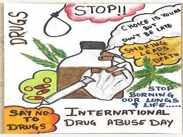 Poster Making Competition on International Drug Abuse Day.